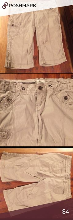 Size 14 Maurices Bermuda Shorts Missing tie adjuster at waist otherwise great pair of khaki colored bermudas! ❤ Maurices Shorts Bermudas