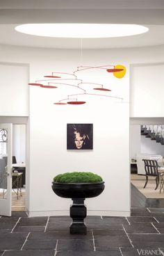Alexander Calder mobile. Interior Design by Richard Hallberg.