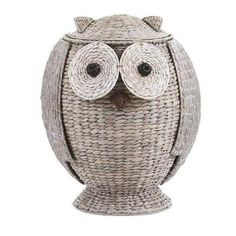 Home Decorators Collection Owl 21 in. H x 16.5 in. W Grey Hamper with Removable Lid-5021900270 - The Home Depot