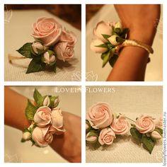 Браслеты с цветами для невесты 98