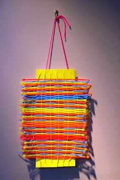 Neon colored cable tie weaving - The Art Annex
