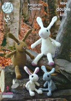 Amigurumi Crochet Pattern C9034 The Bunny Rabbit Family Soft Toys Crochet Pattern Amigurumi DK (Light Worsted) King Cole