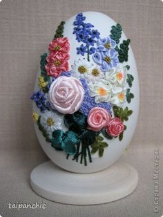 Ribbon Embroidered Egg