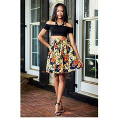 Meni Full High-Waist African Print Ankara Knee Length by DIYANU