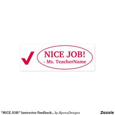 """ Instructor Feedback Rubber Stamp created by AponxDesigns. Student Work, School Teacher, Motivational, Stamps, Messages, Education, Nice, Inspiration, Seals"
