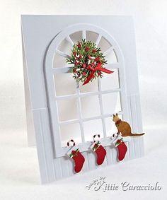 Christmas Window Scene and Mini Wreath Tutorial | KittieKraft | Bloglovin'