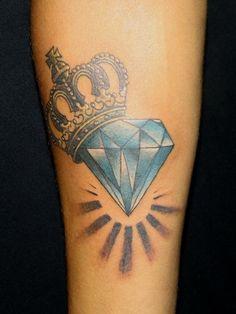 Blue Diamond Arm Tat
