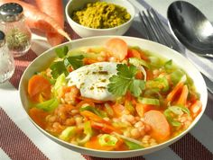 Linsen-Lauch-Curry -