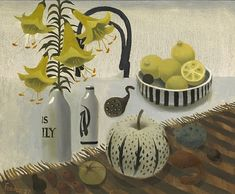 Lilies and Lemons Artist: Mary Fedden Completion Date: 2007 Style: Naïve Art (Primitivism) Genre: still life Royal College Of Art, Tea Art, Inspirational Artwork, Naive Art, Artist Art, Painting Inspiration, Art Boards, Illustration Art, Artsy
