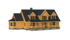 """The Edgefield"" is one of the many log cabin home plans from Southland Log Homes. You can customize the Edgefield to meet your exact needs with our free design tools."