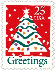 us stamp 1990 the design on this playful christmas stamp began with a hand - Christmas Stamp