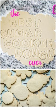 The best sugar cookie dough recipe. Makes perfect cookies that won't lose their shape when baking.