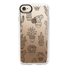 Cactus & Succulents - iPhone 7 Case And Cover (51 CAD) ❤ liked on Polyvore featuring accessories, tech accessories, phone cases, iphone case, iphone cases, apple iphone case, iphone cover case and clear iphone case