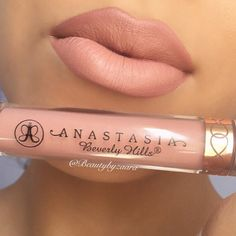 """Perfect combo by ✨@beautybyzaara✨ @anastasiabeverlyhills Liquid Lipstick in """"Pure Hollywood"""" & Mac Lipliner in """"Subculture """""""