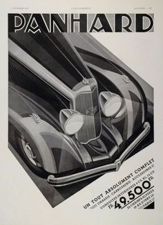 Art Deco Advertisement for Panhard Cars