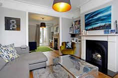 Open plan living - Victorian House Extension Living Room Plan, Open Plan Living, Living Room Decor, Living Spaces, Living Rooms, Victorian Terrace House, Victorian Homes, House Extensions, Reception Rooms