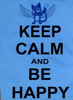 Custom Fanmade Fairy Ferry Tail Happy Fish Cat T-Shirt Tee Tshirt