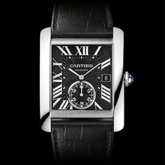 A masculine expression of elegance Cartier Tank MC  MC Skeleton in Palladium (See more at:http://watchmobile7.com/articles/cartier-tank-mc-mc-skeleton-palladium) (6/7) #watches #cartier @Cartier
