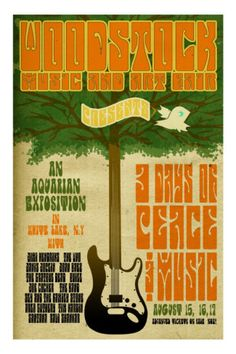 Woodstock... Haven't ever seen this poster before....