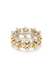 Schlumberger Lynn Platinum, Gold, & Diamond Ring..pretty