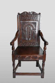 17th century armchair, Marhamchurch antiques