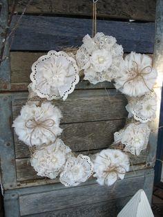 Vintage Lace Wreath by ShabbyChicRose on ETSY