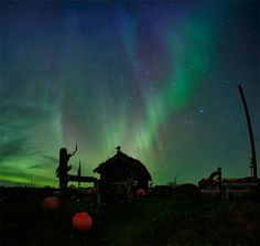 Northern lights over Trysil, Norway <3