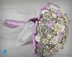 """Julia"" Lilac Brooch Bouquet #wedding #bouquet #lavender"