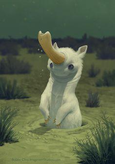 ArtStation - Nocturnal Unicorn, Bobby Chiu