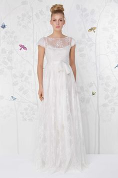 SADONI wedding dress LACE with cap sleeves and rustic lace