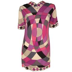 1960s Mod Emilio Pucci Silk Jersey Mini Dress | From a collection of rare vintage day dresses at http://www.1stdibs.com/fashion/clothing/day-dresses/