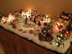 christmas village - Miniature Christmas Town Decorations