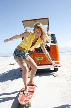 VW in orange...
