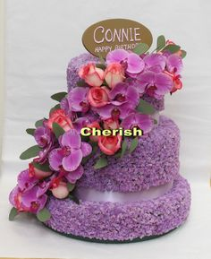 Fresh Flower Cake made by me and my husband.