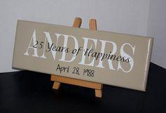 50th Wedding Anniversary or 25th Wedding by TheFreckledOwlStudio, $29.95