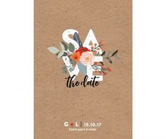 Gorgeous diy design by the bride illustrated fall wedding save the date recto more stopboris Choice Image