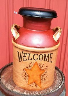 pictures of painted milk cans | Painting Antique Milk Cans Pic #21