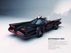 Batmobile [1966] by Enzoide, via Behance