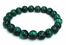 """05"" ""Richie"" by BOYBEADS 10mm natural green malachite bead bracelet for guys"