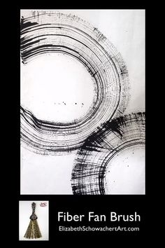 In this video, Elizabeth demonstrates how to paint with a fiber fan brush. Using traditional India ink on handmade paper, Elizabeth shows how to create fine lines and shapes. Art Zen, Graphic Design Cv, Brush Drawing, Fan Brush, India Ink, Black And White Abstract, Process Art, Simple Art, Ink Painting