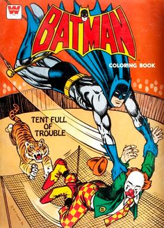 Whitman Batman Coloring Book Tent Full Of Trouble 1970s