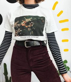 Matilde - Grunge Fashion Looks That Feel Very at the moment Edgy Outfits, Mode Outfits, Retro Outfits, Grunge Outfits, Grunge Fashion, Look Fashion, 90s Fashion, Korean Fashion, Vintage Outfits