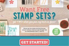 Earn two free stamp sets from Stampin' Up! today!