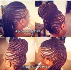 Braided Mohawk Bun