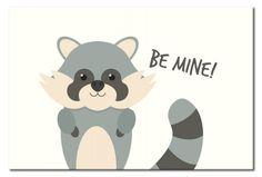 Cuadro de chapa Children's Animals: Raccoon