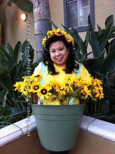 Super Cute Flower Pot Costume… Coolest Online Halloween Costume Contest