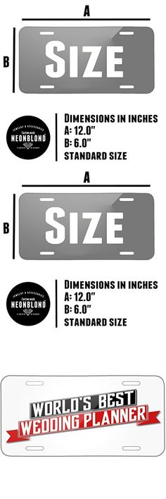 Neonblond Worlds Best Wedding Planner Metal License Plate