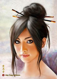May Fong Robinson, Paintings, Digital Art, Digital Art Blog, Digital Inspiration,
