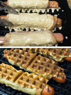 23 Things You Can Cook In A Waffle Iron   Waffle Iron Hot Dogs