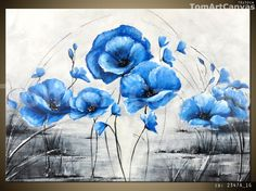 CANVAS ART DECOR ABSTRACT POPPIES FRAMED REDY FOR A WALL MORE SIZE